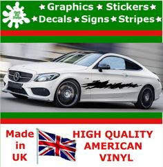 """10"""" High Car Side Stripes Graphic Decal Vinyl Stickers Van Auto Rally Race F1_96"""