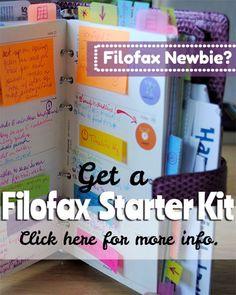 New to FilofaxLand? Get Your Starter Kit!  | www.limetreefruits.com/filofax-starter-kit