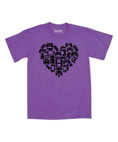 Look what I found on #zulily! Purple Game Controllers Heart Shape Tee - Toddler & Girls by Geek Garb #zulilyfinds