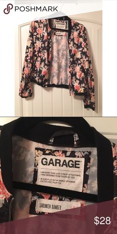 Garage Floral Bomber Lightweight, silky jacket, worn once. In perfect condition Garage Jackets & Coats