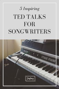 Songwriting tips and creative inspiration for the contemporary songwriter. Learn how to write a song, how to write lyrics, and how to write your best songs. production 5 TED Talks for Songwriters Singing Lessons, Singing Tips, Music Lessons, Guitar Lessons, Guitar Tips, Art Lessons, Writing Lyrics, Music Writing, Writing Tips