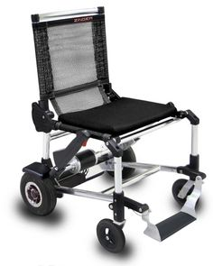 Zinger is not only the world's lightest wheelchair but also the most easy to fold, store, and move around at a speed of 6 mph.