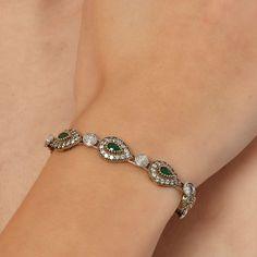 The Zerbap Kandace Bracelet  with Zircon Emerald by Rosestyle, $60.00