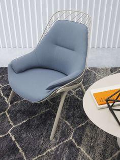Gran kobi by Patrick Norguet #news2016 from #SalonedelMobile #armchair #lightblue #kvadrat #fabric
