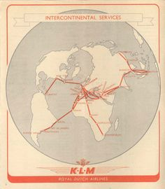 Network map KLM 1948
