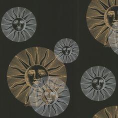 fornasetti sun wallpaper