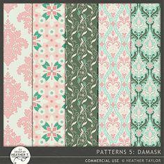 Patterns 5: Damask::19/11 - Wonderful Wednesday::Memory Scraps {CU}