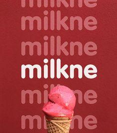 Milkne Ice Cream | Branding & Packaging on Behance Minimalist Graphic Design, Food Graphic Design, Graphic Design Posters, Ad Design, Cupcake Packaging, Ice Cream Packaging, Brand Packaging, Ice Cream Design, Ice Cream Brands