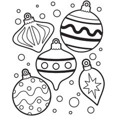 ornamentscut them out so they can color and paste onto a paper tree - Printable Coloring Ornaments