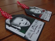 Made these for this years gift tags...SO SO SO precious and easy. Used all different photos of the kids all year.  I loved them!! Will definitely do again...maybe tradition??