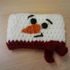 Frosty the Snowman Crochet Coffee Cozy Java Jacket by CuddleMeWarm, $6.50..how cute is that ???   I know... too expensive... but really cute! lol