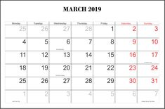 March 2019 Calendar Template Recommend for You: March 2019 Printable Calendar March 2019 Calendar with Holidays 2019 March Calendar Template March Calendar Printable, June 2019 Calendar, Excel Calendar, Monthly Calendar Template, Printable Calendar Template, Blank Calendar, Calendar Pages, Free Printable, Daily Calendar
