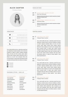 Modern Resume Template & Cover Letter Icon Set por OddBitsStudio If you like this design. Check others on my CV template board :) Thanks for sharing! Microsoft Word, Resume Layout, Resume Tips, Resume Ideas, Cv Ideas, Free Resume, Resume Format, Resume Cv, Resume Fonts