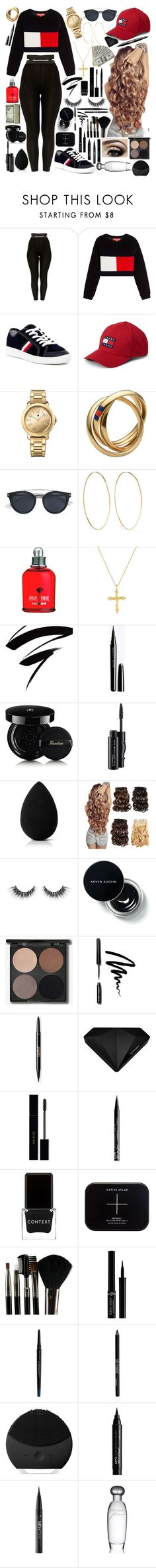 """""""Babe"""" by braybraycraycrayshanaenae ❤ liked on Polyvore featuring Hilfiger Collection, Tommy Hilfiger, Magda Butrym, Bling Jewelry, Guerlain, MAC Cosmetics, beautyblender, Bobbi Brown Cosmetics, Sephora Collection and Gucci"""