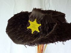 Pinata Cowboy Hat Sheriff Hat by DalePinatas on Etsy, $65.00
