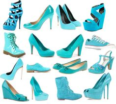 """""""Blue Shoes"""" by studentaditi ❤ liked on Polyvore"""