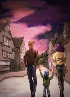 i'm sick of all the beautiful may 2nd angst so we're pretending that everyone lived okay?? by ohnienna - Remus,Tonks and Teddy