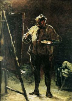 The Painter at His Easel - Honore Daumier