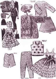 Fashion Doll Clothes Barbie Vintage Knitting Patterns for download