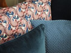 Liberty London Hip and Mosaic Blue cushion covers from @bungalowdk and @tinekhome available from @estheticliving.com