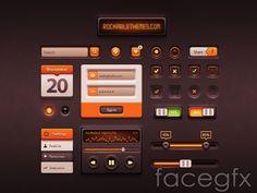 PSD UI elements kit