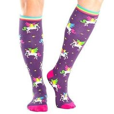 6b8c005ff Sock It to Me Women s Knee High Funky Socks Animals Winging Women s Shoe  Size 5 for sale online