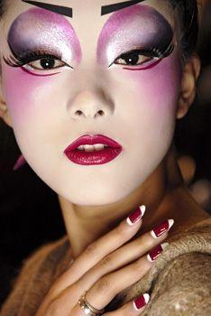 Geisha Makeup, Eye Makeup, Doll Makeup, Costume Makeup, Makeup Art, Beauty Makeup, Geisha Hair, Fairy Makeup, Mermaid Makeup