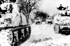 Captured M4 Shermans used by the 1st Battalion, 10th SS Panzer Regiment, during the Battle of the Bulge. Scores of Shermans were captured during the initial stages of the battle, with 12 M4A3s used in this unit alone. Willys Mb, Luftwaffe, Sherman Tank, History Online, Army Vehicles, Armored Vehicles, Ww2 Tanks, Prisoners Of War, German Army