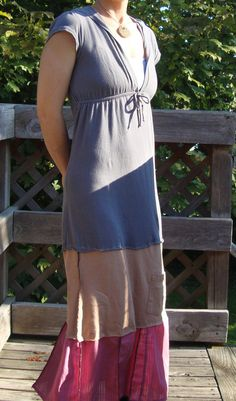 eco dress - Upcycled Hooded T Shirt by RebirthRecycling