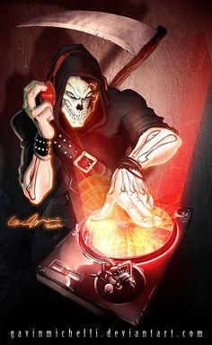 Reaper Remix by GavinMichelli on DeviantArt Don't Fear The Reaper, Grim Reaper, Abstract Iphone Wallpaper, Animal Wallpaper, Dance Music, Dj Techno, Dj Logo, Graffiti, Cute Love Images