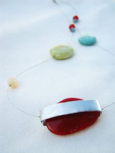Outer space jewelry  summer necklace  long by PikipokaJewelry
