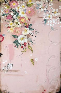 Buy Summer's Pink Perfume on acrylic and mixed media on frescoed panel by Kathe Fraga. Kathe Fraga is from Bainbridge Island, WA and is represented by 530 Burns Gallery, Sorrel Sky Art & Design Art Floral, Vintage Floral, French Wallpaper, French Paintings, Pink Perfume, Sky Art, Chinoiserie, Painting & Drawing, Flower Art