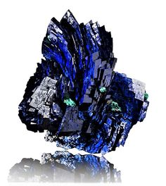 Azurite, Sonora, Mexico Minerals And Gemstones, Crystals Minerals, Rocks And Minerals, Azurite Malachite, Cool Rocks, Art Graphique, Rocks And Gems, Diamond Stone, Fossils