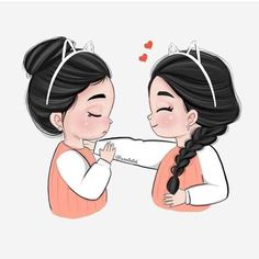 imagens sobre dps no We Heart It Best Friend Drawings, Girl Drawing Sketches, Cute Girl Drawing, Girly Drawings, Cartoon Girl Drawing, Cartoon Art, Girl Cartoon Characters, Cartoon Girl Images, Cute Cartoon Girl