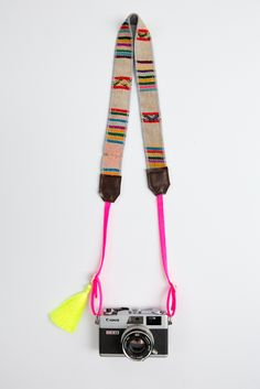 Camera straps made in L. Camera Straps, 9 And 10, Color Pop, Hand Weaving, Neon, Beige, Personalized Items, Pink, Leather