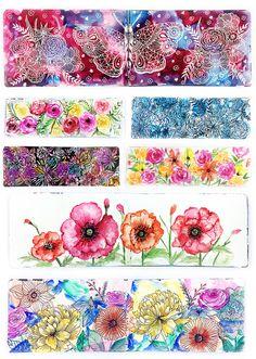 a peek inside my floral art journal from alisa burke