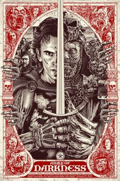 This Thursday, Grey Matter Art presents a brand spankin' new Army of Darkness poster, which comes courtesy of artist Anthony Petrie. The poster, rather bri Cult Movies, Scary Movies, Horror Movies, Ash Evil Dead, Bruce Campbell Evil Dead, Kunst Poster, Vash, Alternative Movie Posters, Movie Poster Art