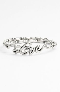 "valentine's style: ""Love"" bangle @nordstrom #valentinesgifts"