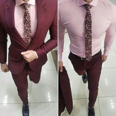 Men formal wear on a business Gentleman Mode, Gentleman Style, Men Formal, Formal Wear, Sharp Dressed Man, Well Dressed, Mens Fashion Suits, Mens Suits, Burgundy Suit