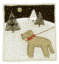 cute dog in the snow block. Sharon Blackman