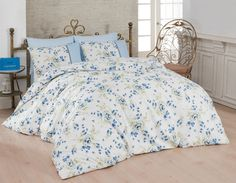 Dose Of Modern Modena Ranforce Double Quilt Cover Set (ES) - White Blue Green Double Quilt, Single Quilt, Quilt Cover Sets, Comforters, Duvet, Blue Green, Quilts, Blanket, Bed