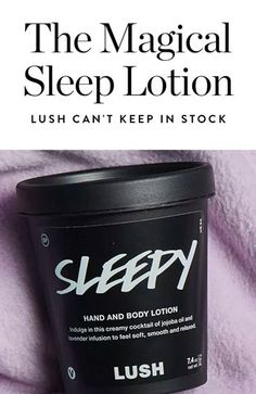 I Tried Lush's Magical 'Sleepy' Lotion and It Knocked Me Out in 15 Minutes via @PureWow