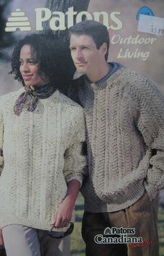 Patons Canadiana Tweeds Sweater Pattern Book