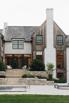 64 fantastic exterior design ideas that looks cool 3 Stommel Haus, Dream House Exterior, House Ideas Exterior, Stucco Exterior, Stone Exterior Houses, Exterior Shutters, Exterior Stairs, Exterior House Colors, Exterior Paint