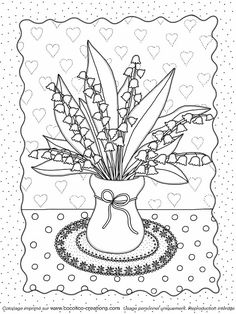 pergamano - Page 19 Easter Coloring Pages, Flower Coloring Pages, Coloring Book Pages, Flower Line Drawings, Detailed Coloring Pages, 1. Mai, Quilling Patterns, Free Printable Coloring Pages, Digi Stamps