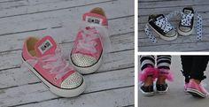 Little Girls Bling Converse All Star Shoes