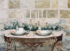 Elegant sweetheart table