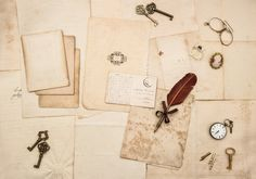 Vintage papers Flat lay by LiliGraphie on @creativemarket