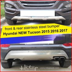 100.00$  Watch here - http://aliimn.worldwells.pw/go.php?t=32713726917 - for Hyundai new Tucson 2015 2016 2017 stainless steel skid plate,bumper protector,bull bar, 1 or 2pcs/set,quality supplier