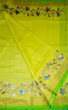 Excited to share this item from my shop: Linen saree Organic Linen by Linen sarees with zari Work and blouse piece Organic handwoven 100 count Linen saree Stitched blouse on request Kora Silk Sarees, Handloom Saree, Saree Kuchu Designs, Blouse Designs, Saree Border, Embroidery Suits Design, Saree Look, Work Sarees, Work Blouse